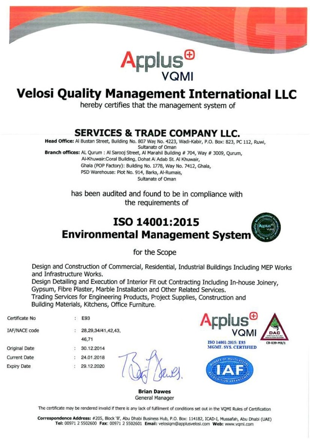 Optimized-STC ISO 14001